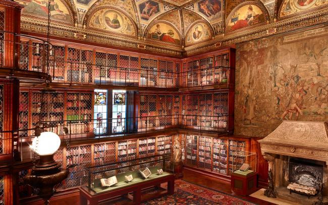 Esta es la biblioteca museo Morgan, en Nueva York. Impresionante es poco.