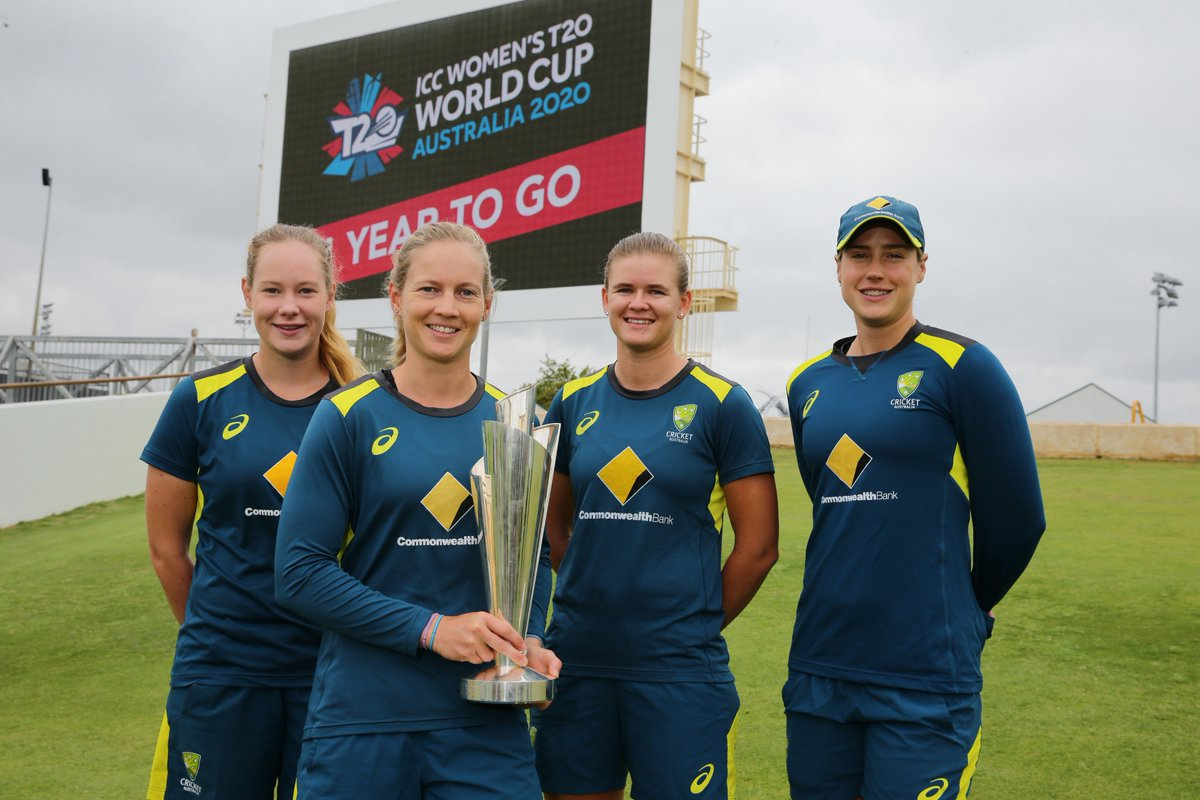 Big morning in Perth @WACA_Cricket with just 1 Year To Go till the @SouthernStars defend their title as @T20WorldCup champions at home across Australia. Get your tickets now!