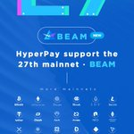 Image for the Tweet beginning: HyperPay Lists the 27th Mainnet