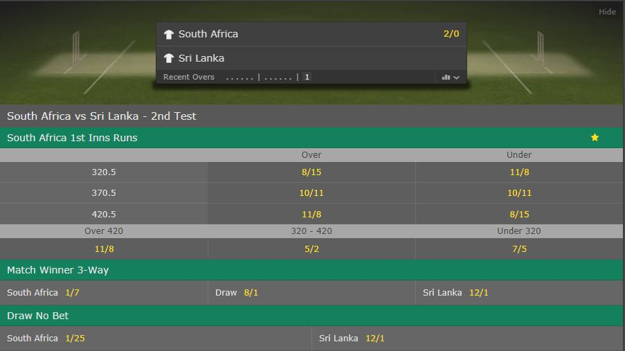 Dean Elgar and Aiden Markram are at the crease for South Africa in the second Test vs Sri Lanka.  How many runs will the hosts score?  Latest odds > https://t.co/VZxQG1BhUx.