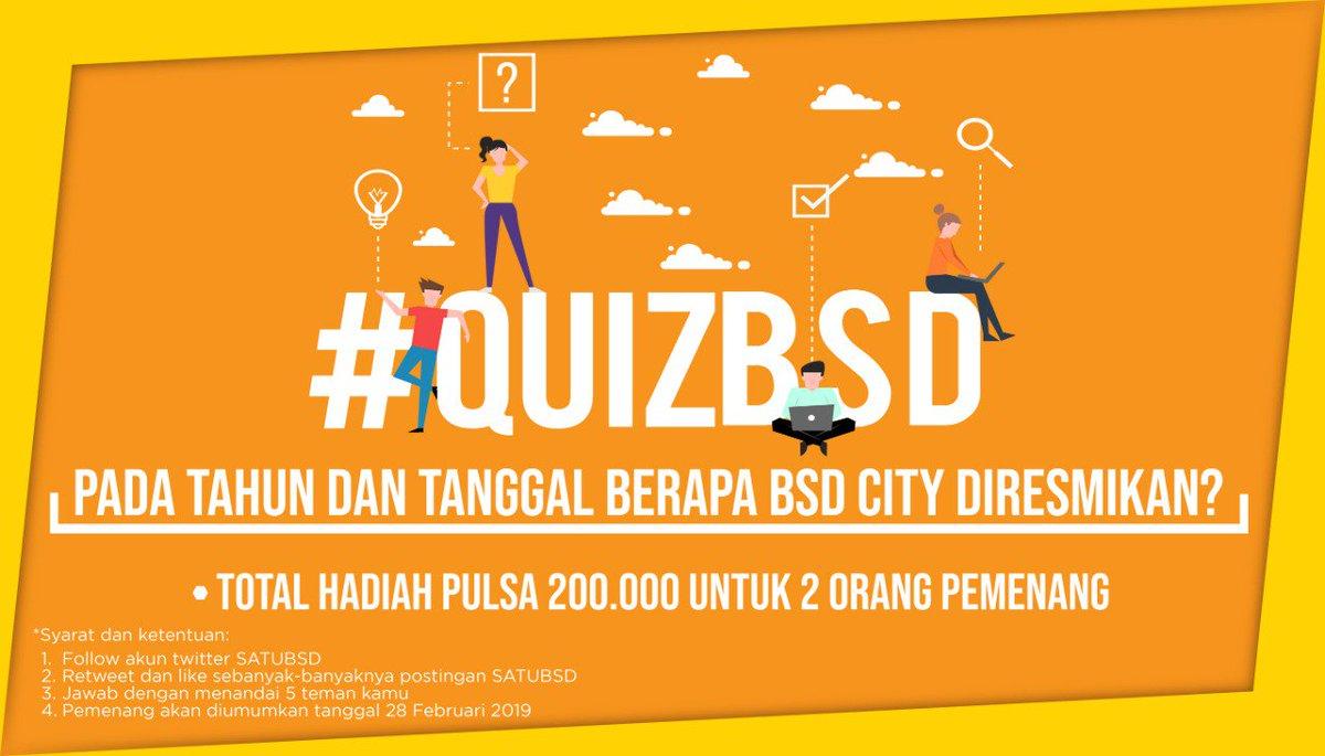 Haloo sobat #SatuBSD yuk kita quiz! Ikuti persyaratan dan jawab pertanyaannya di kolom komentar ya!  #SatuBSD #BSDCity