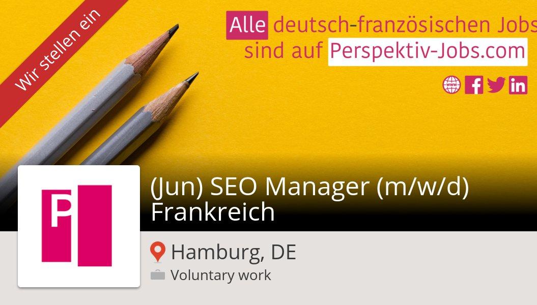 New #stelle Stelle bei #CasamundoGmbh in #Hamburg! (Jun) #SEO #Manager (m/w/d) Frankreich https://workfor.us/perspektivjobs/1fw…