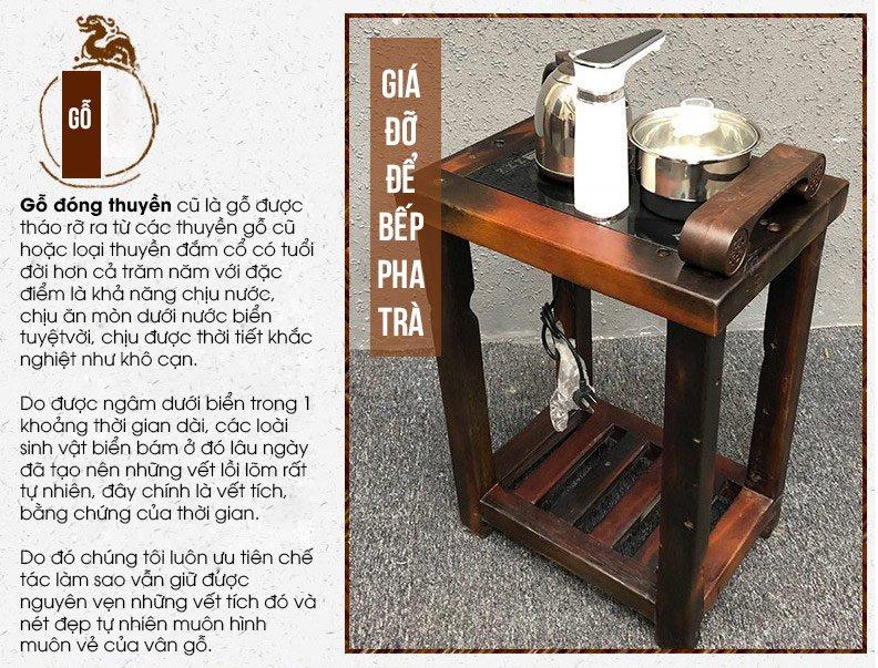 Bộ bàn ghế phong thủy cổ điển kèm bếp pha trà độc đáo