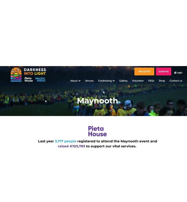 You can now register to do Darkness Into Light in Maynooth! The more who join us the more impact the event has💜  Click here ⬇️⬇️  https://www.darknessintolight.ie/event/maynooth