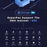 Image for the Tweet beginning: HyperPay Lists the 28th Mainnet