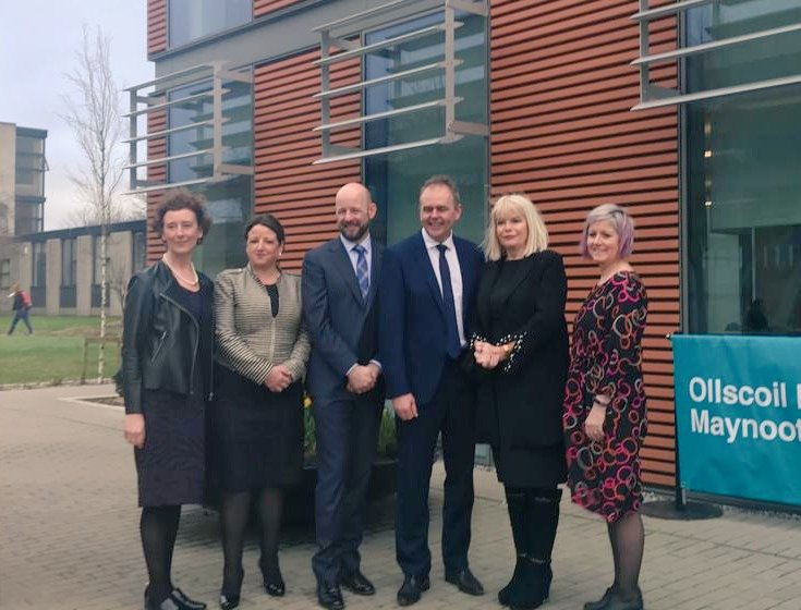 Delighted to welcome @McHughJoeTD & @mitchelloconnor to campus today for the opening of our School of Education