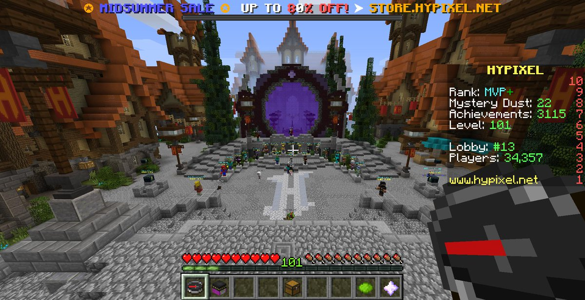 Minecraft hypixel lobby map download | Minecraft Maps