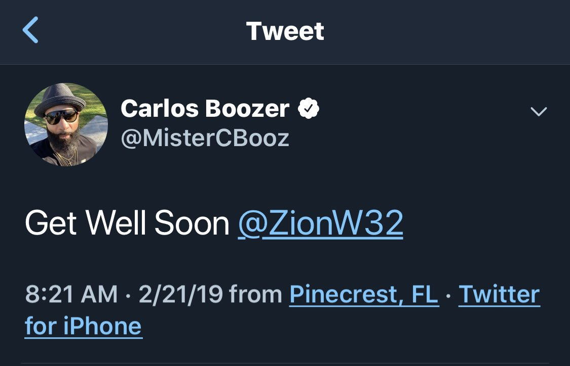 We have a Zion address correction from @MisterCBooz