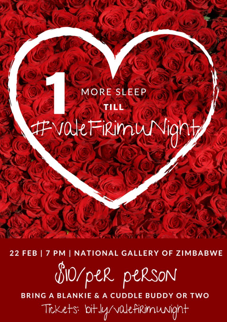 One day to go! #ValeFirimuNight Let's link up and celebrate #ValentineDay in yet another romantic way. I'm bringing all my friends and family. You too should. Tickets available here >>  http:// bit.ly/valefirimunight     #ENTHUSE Come watch #Cookoff on the big screen.<br>http://pic.twitter.com/BM8TOko31r