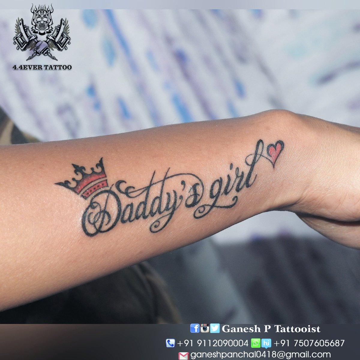 4f45f7011 late #post #daddysgirl #Dad #Love #tattoo #design #by #Ganesh ...