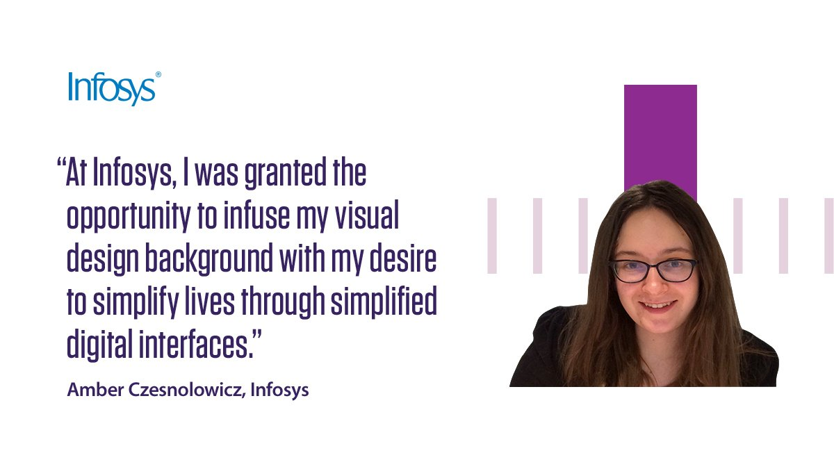 Amber Czesnolowicz, from our Providence digital innovation and design center, writes about her experience of working with Infosys. Read more https://infy.com/2GCa9AU  #NavigateYourNext #LifeAtInfy