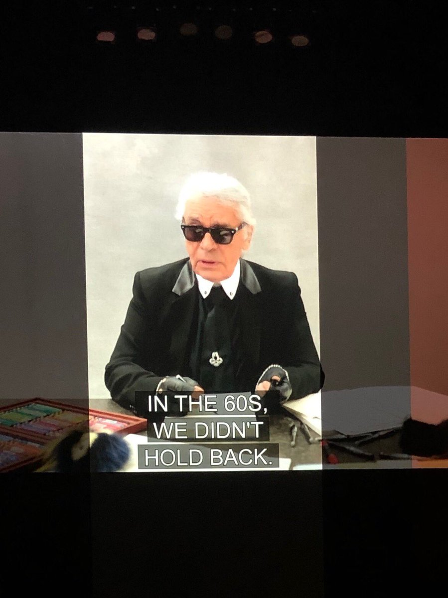 """""""In the '60s we didn't hold back"""" - Karl Lagerfeld in a farewell video @fendi #MFW"""