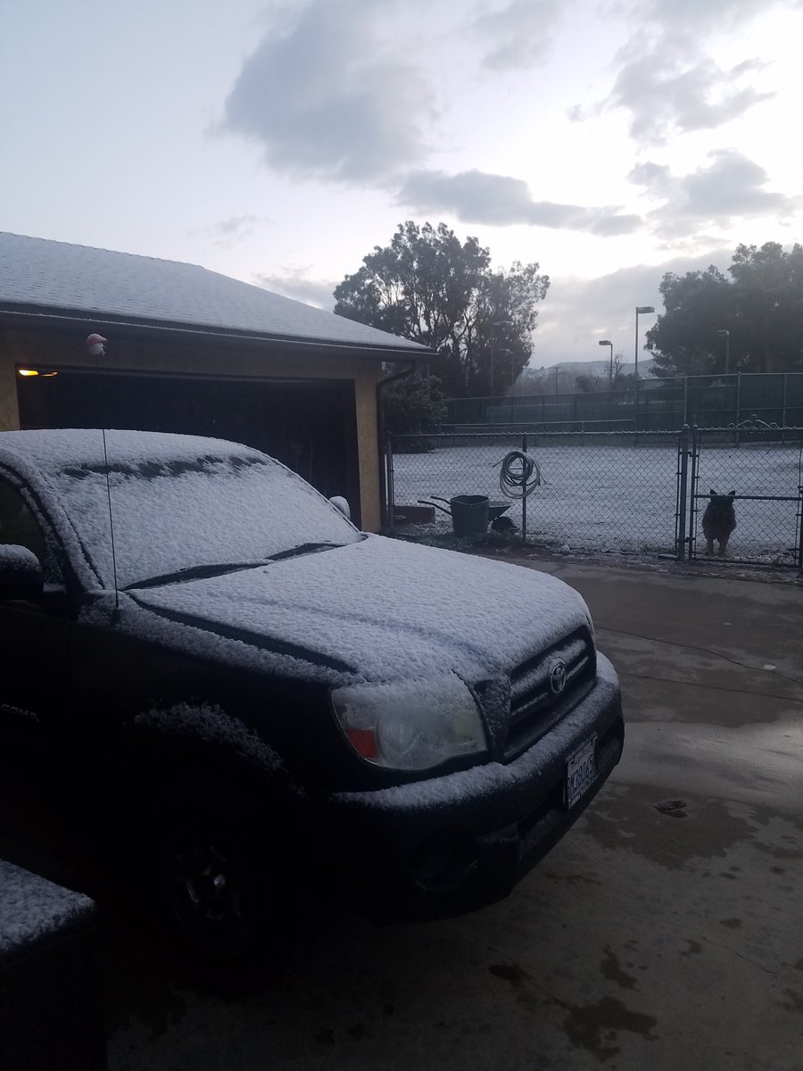 @NWSLosAngeles Some snow in Acton. Enough for a day off work/school? #LARain #LAsnow https://t.co/gxSSfuuIU8