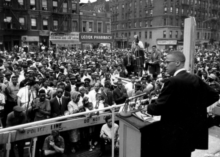 #OnThisDay in 1965, Malcolm X was assassinated as he spoke at his organization's rally in NYC. In his later years, Malcolm X moved toward nonviolent tactics, reaching equality through direct action, self sufficiency and self defense. #FreedomForward #BHM