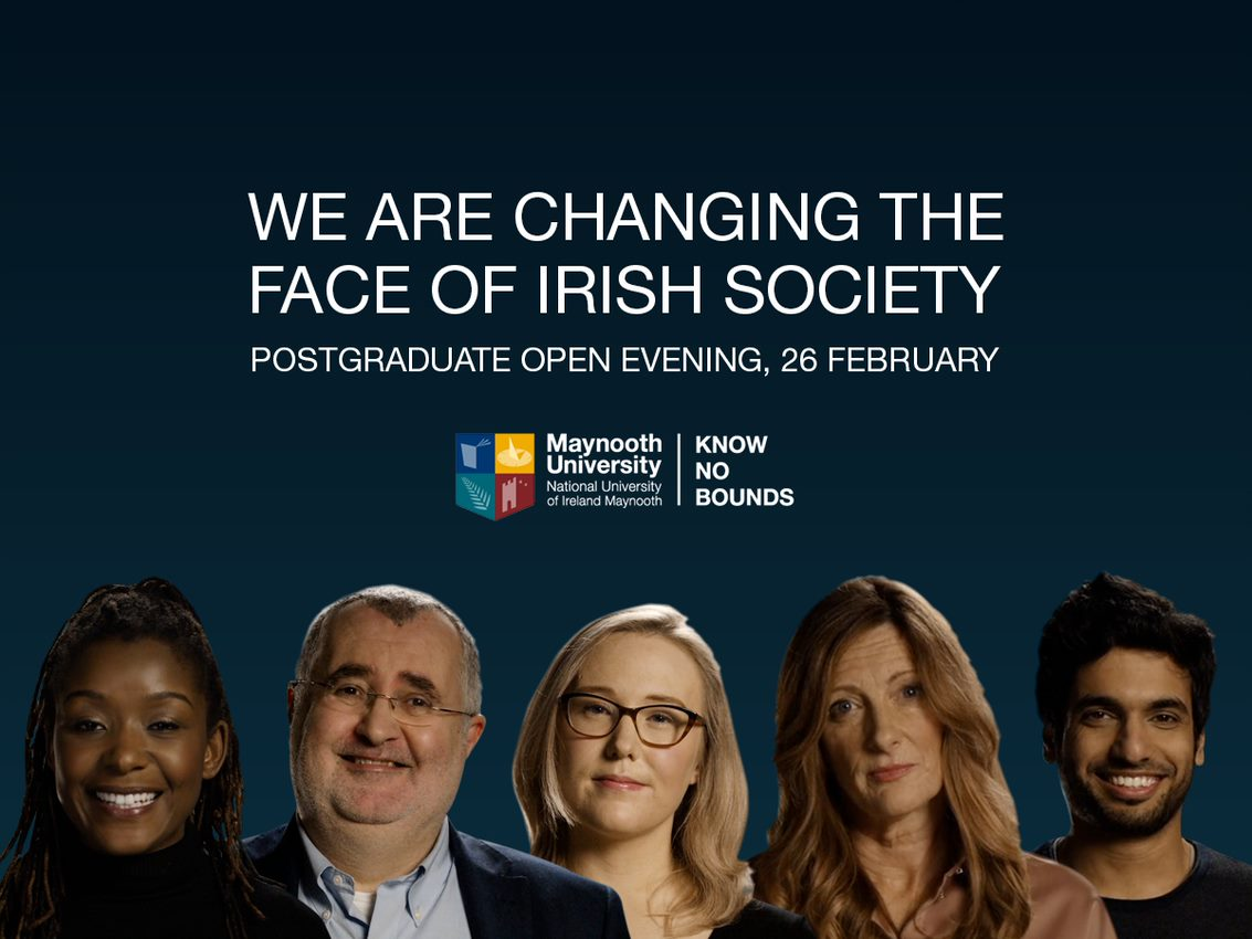 It's time to think #postgrad @maynoothuni. Join the university that is changing the face of Irish society. Talk to us about funding, scholarships and Master's & PhD opportunities at our Postgrad Open Evening on the 26th February from 4-8pm. Register now: http://www.maynoothuniversity.ie/postgrad2019