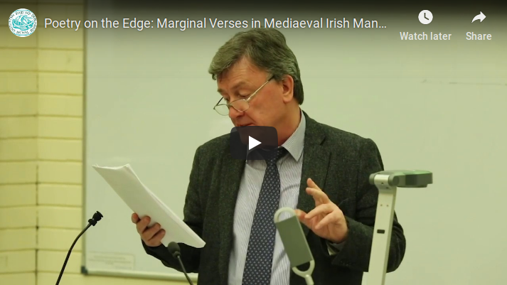 "test Twitter Media - #ThrowbackThursday to Professor Liam Breatnach's Statutory Public Lecture for 2018, ""Poetry on the edge: marginal verses in mediaeval Irish manuscripts https://t.co/PofBnHBnZL #SCSTIONOL2018 #DIASdiscovers https://t.co/JXecP0WBfA"