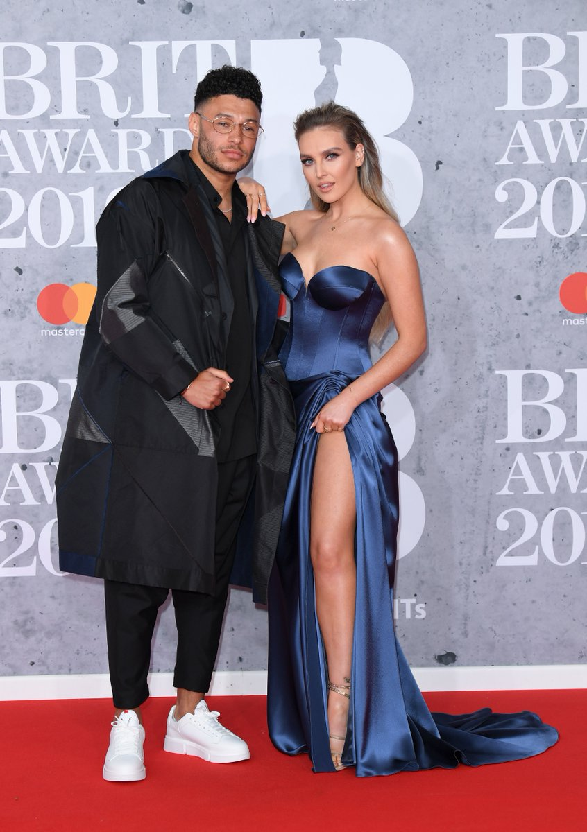 Couple goals with @Alex_OxChambo and @LittleMix's Perrie Edwards at the Brits 💯❤️