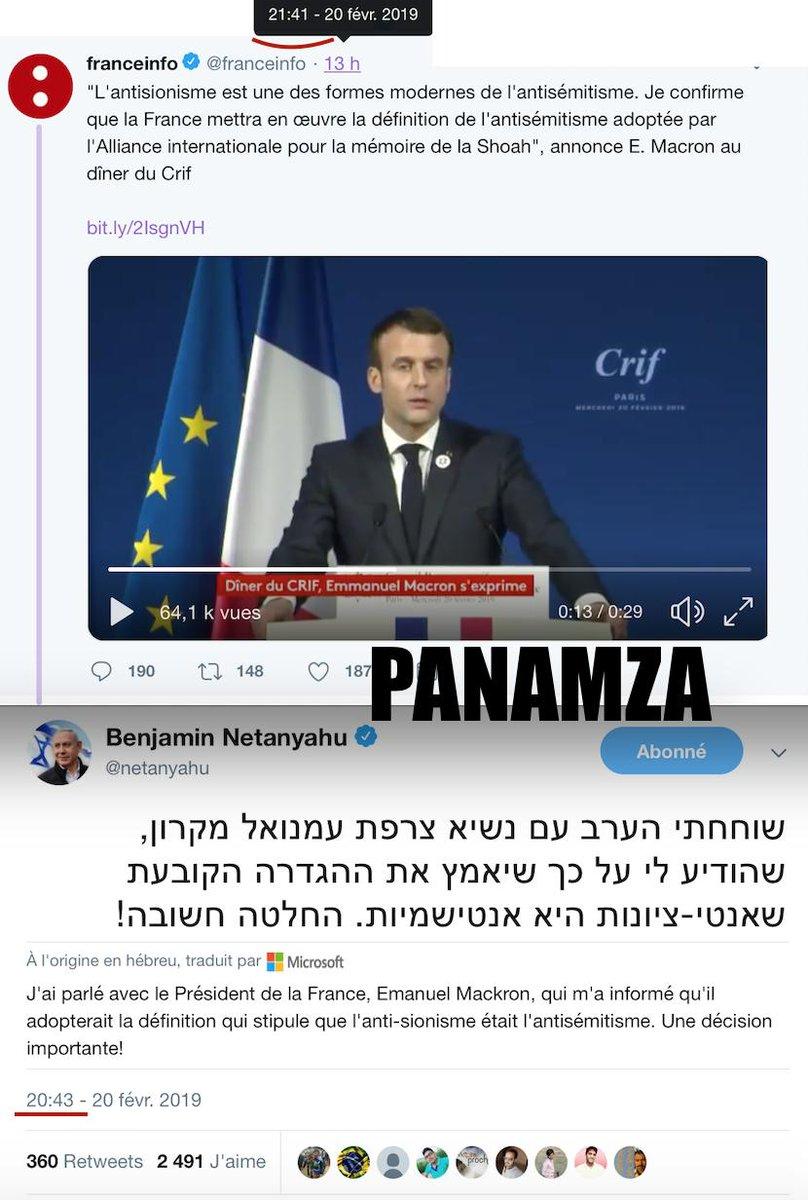 Répression de l'antisionisme en France : Netanyahou l'annonce 1 heure avant Macron