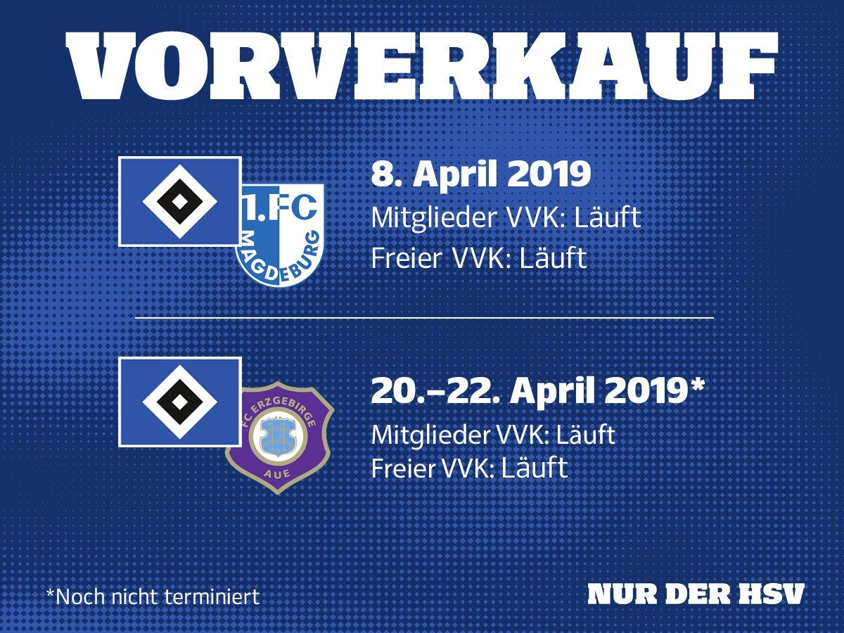 #Ticketinfo ⚠ Wir gehen in den Endspurt! Ab heute könnt ihr euch Tickets für unsere Heimspiele gegen den @1_FCM und den @FCErzgebirgeAue sichern 🎫 Zu den Tickets ➡ http://bit.ly/HSV5020 #nurderHSV #HSVFCM #HSVAUE