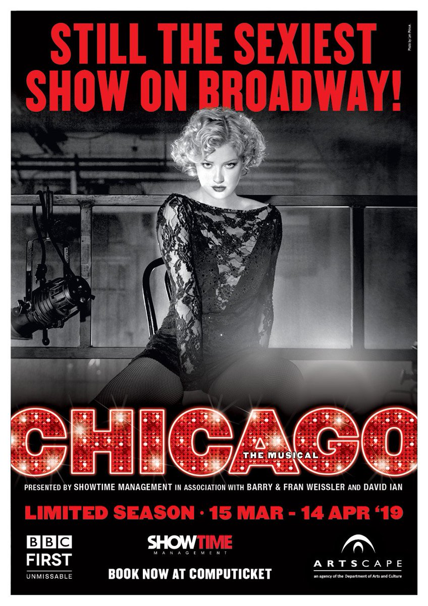 15 Mar – 14 April 19 Chicago Jazz slayer Roxie Hart shoots her lover & along with Cell Block rival, double-murderess Velma Kelly, they fight to keep from death row with the help of smooth talking lawyer, Billy Flynn. It would be a crime to miss it. http://www.artscape.co.za/event/chicago-the-musical/…