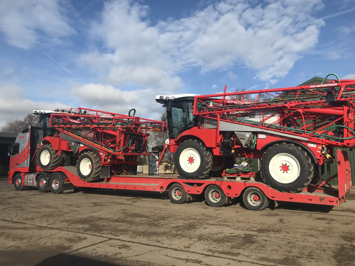It's like waiting for a bus... you wait ages and 2 appear! The new Bateman RB35 30m boom sprayer has arrived @Batemansprayers