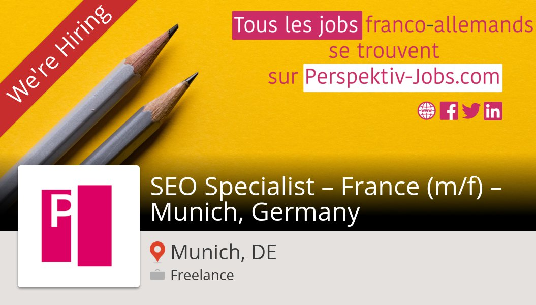 #WestwingGmbH is hiring a #SEO #Specialist – France (m/f) – Munich, Germany in #Munich, apply now! #job https://workfor.us/perspektivjobs/2kf…