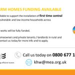 Are you or someone you know struggling without central heating at home? New grants are available to help ⬇️ #KeepHerefordshireWarm #KeepWarmKeepWell