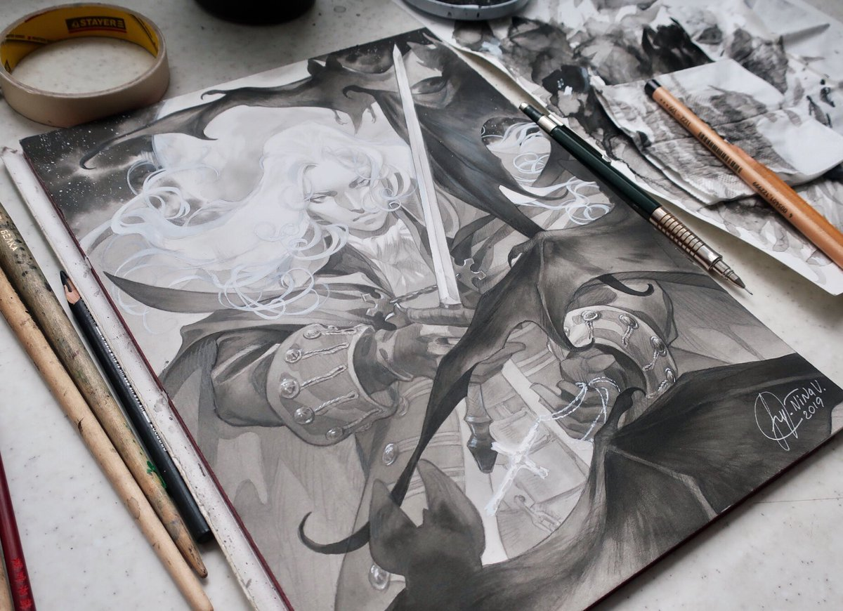 Alucard ink commission is finally dooooneee 🥴🥴🎉🎉