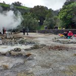 Image for the Tweet beginning: Today's fieldtrip... Furnas volcano #Azores