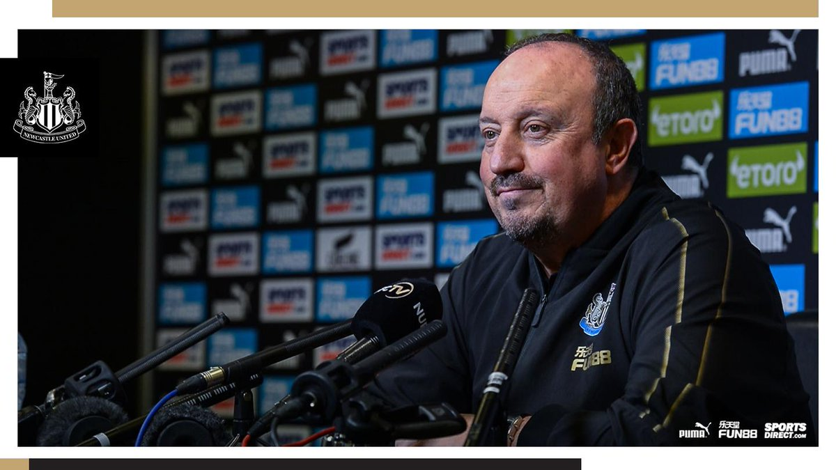 Good morning. Newcastle face @htafcdotcom tomorrow and we'll be hearing from Rafa Benítez this afternoon.  Join us for updates from the manager's pre-match media briefing from approximately 1:45pm (GMT).  #NUFC