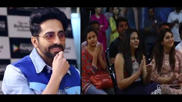 "RT Bollyhungama """"tahira_k is the one who's more courageous, she is the one who gave me that support"":ayushmannk #TalkingFilms #BollywoodHungama Click here for full video: https://bit.ly/2NmseDC  """