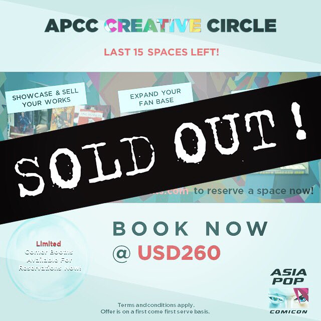 Our 2019 Creative Circle is now fully sold out! For those of you who've  already written in, please do bear with us and we will be in touch soon!
