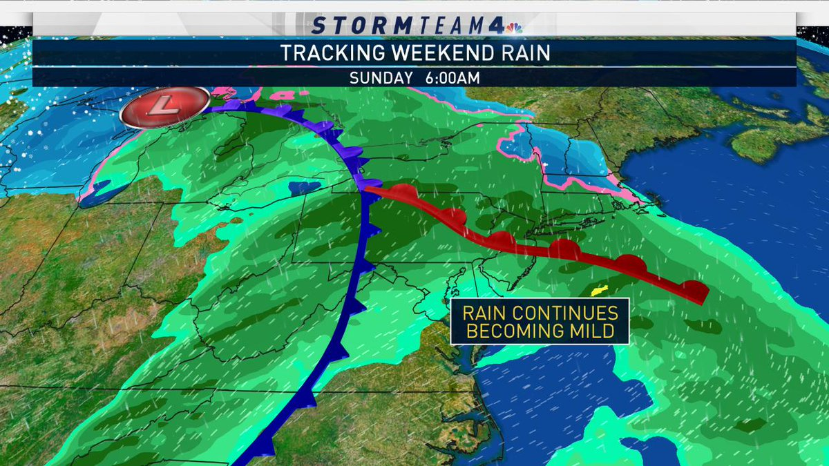 The rest of the week will stay relatively dry, but another storm system will bring us our next round of rain over the weekend... Keep the umbrella & rain coat nearby.  #NBC4NY