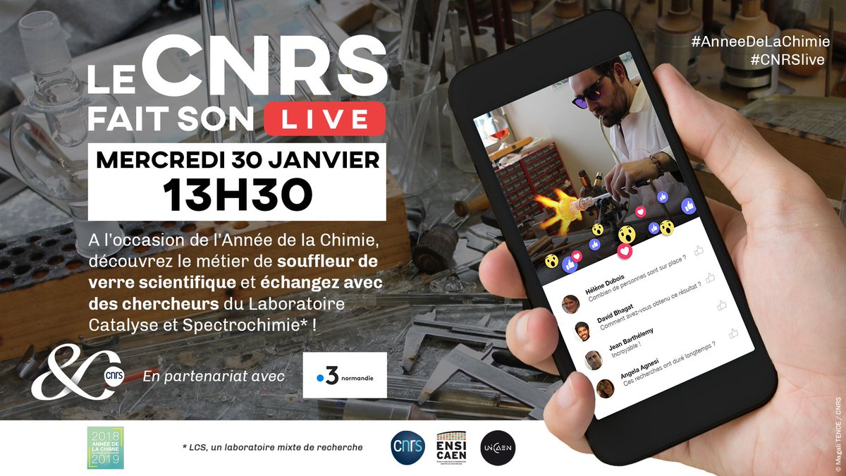 La vidéo du #CNRSLive consacrée à notre souffleur de verre scientifique Adrien Lanel est maintenant disponible sur #youtube : https://t.co/Ot3jo9UuS7 #AnneeDeLaChimie @CNRS @INC_CNRS @ENSICAEN @Universite_Caen @CNRS_Normandie