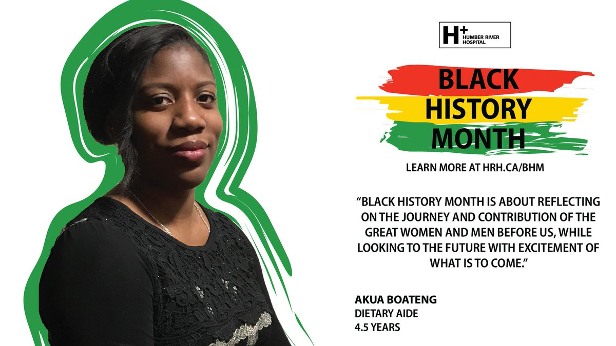 """Black History Month is about reflecting on the journey and contribution of the great women and men before us, while looking to the future with excitement."" - Akua Boateng  Learn more about #BHM at #HRH: https://www.hrh.ca/2019/02/01/bhm2019/ …  #BlackHistoryMonth #DreamsBroughtToLife"