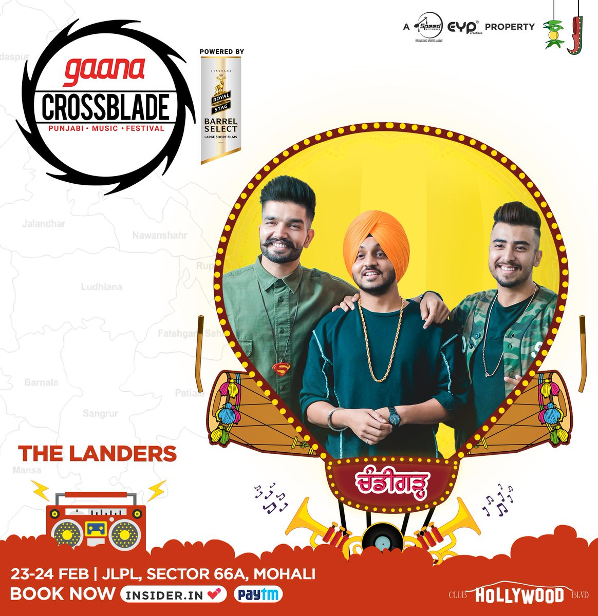 #TheLanders are going to land directly on the stage of @Crossbladelive day after tomorrow! Don't miss the chance to watch all the Punjabi Superstars at Mohali, Chandigarh! Book your tickets NOW! @eypcreations @Speed_Records