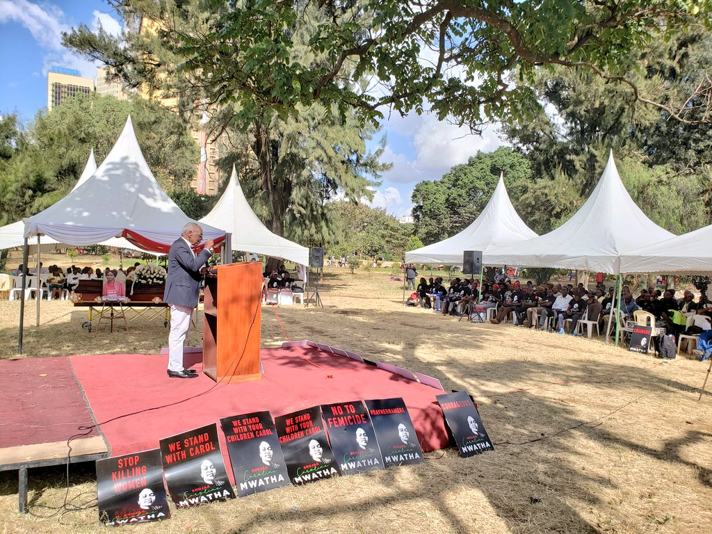 """We are here in solidarity with Caroline and all the women who have died the way Caroline died."" -Rev. Timothy Njoya at Caroline Mwathi's memorial service. #CarolMtetezi"
