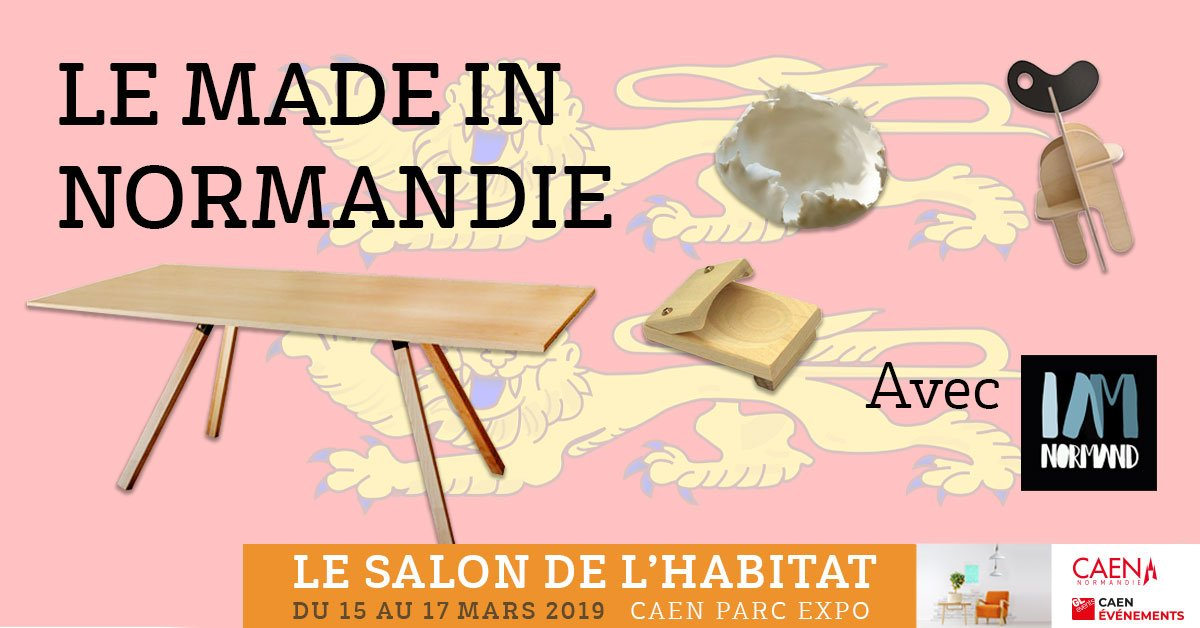 Le #Salon de l'Habitat de #Caen met le MADE IN NORMANDIE à l'honneur ! Du 15 au 17 mars, venez découvrir #IAmNormand, le label des savoir-faire normands dans tous leurs états ! >Tout le week-end, Hall 1 du #ParcExpoCaen https://t.co/9cWdYEhjas https://t.co/qNz7eGjbMa