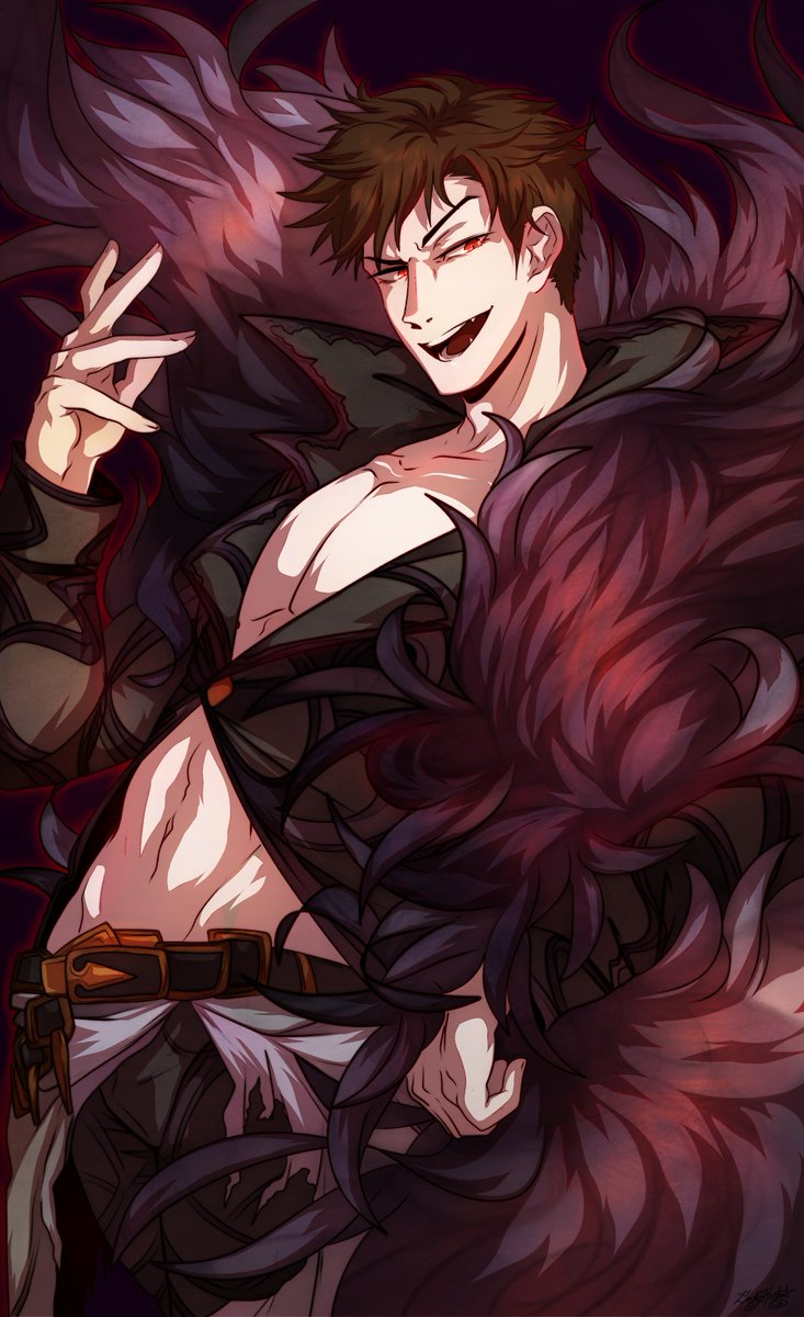 I love Belial. I am so excited for the re-run of What Makes the Sky Blue 2! I looooove Belial. I love him so much-- aaaaaaaa!  #gbf #GranblueFantasy #Belial<br>http://pic.twitter.com/xYCFCaYfaN