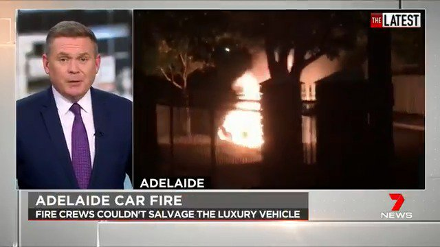 Police are hunting for an arsonist believed to have started a fire destroying a BMW in Adelaide. #TheLatest #7News
