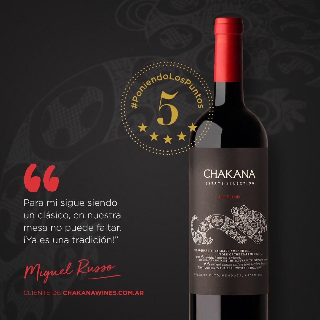 #PoniendoLosPuntos   Vos también podés ser Miguel Russo, cliente de Chakana Wines, que probó el Estate Red Blend. 😉  Aprovechá las últimas horas y llevalo con un 50%OFF ➡️ http://bit.ly/RedBlend2017