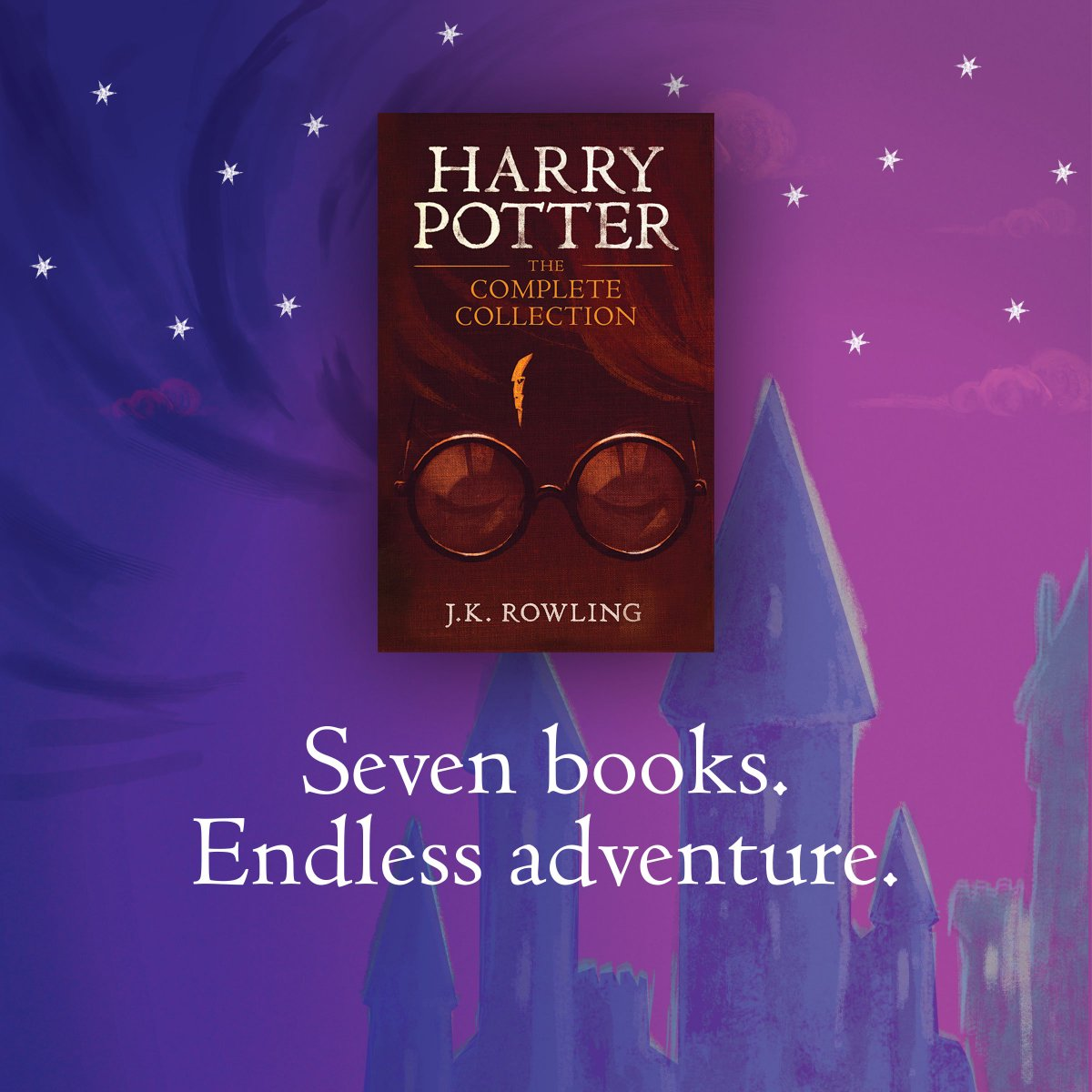 The &quot;Hermione&#39;s beaded bag&quot; of eBooks. All seven stories at your fingertips, in one place - Harry Potter: The Complete Collection is available to download:  http:// pottermo.re/w1bPhU  &nbsp;  <br>http://pic.twitter.com/MX3eAJ4sbs