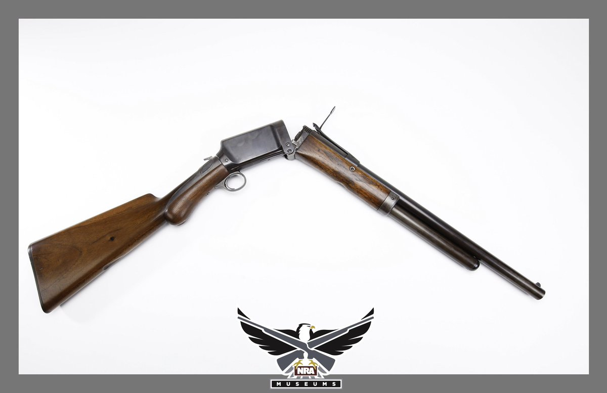 #GOTD - The Burgess Folding Gun. Andrew Burgess had almost 900 firearm-related patents to his name. This 12-gauge folding shotgun was designed to be carried in a belt holster.  #history #nramuseums