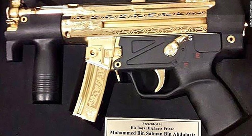 Saudi Crown Prince receives gold-plated gun as a gift from Pakistani senators https://t.co/FkloK2UA3R