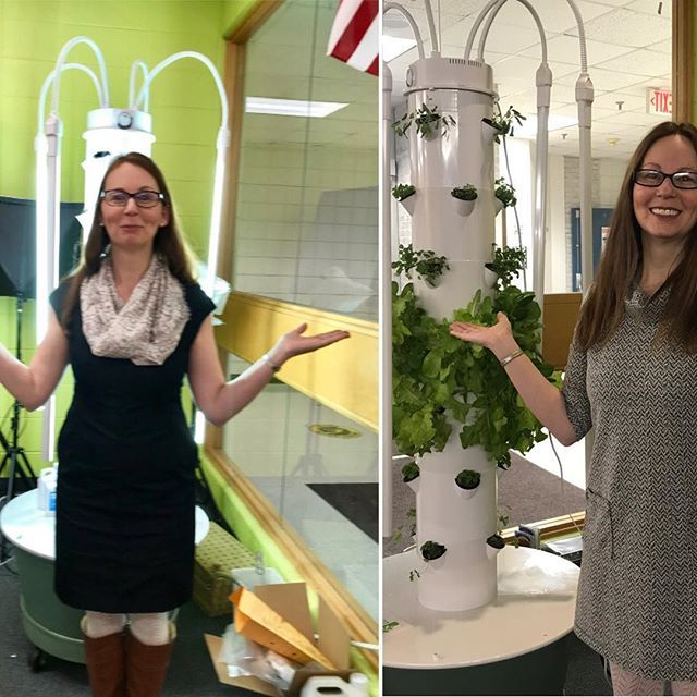 """Yes! So thankful for our Tower Garden - a technology that earns me a """"green thumb"""" award 👍 http://bit.ly/2T5Lcn8"""
