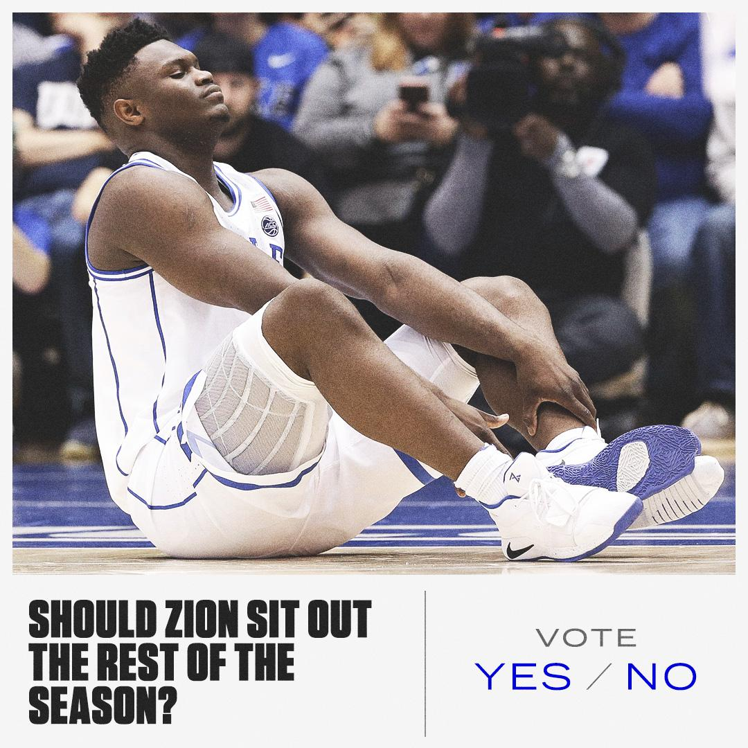 Zion is expected to be the No. 1 pick 🤔