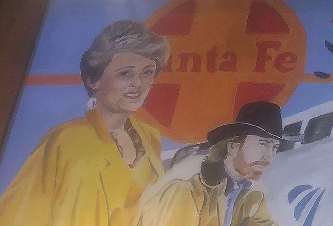 Happy birthday to Rue McClanahan, seen here with fellow native Chuck Norris on this sweet mural in Ardmore