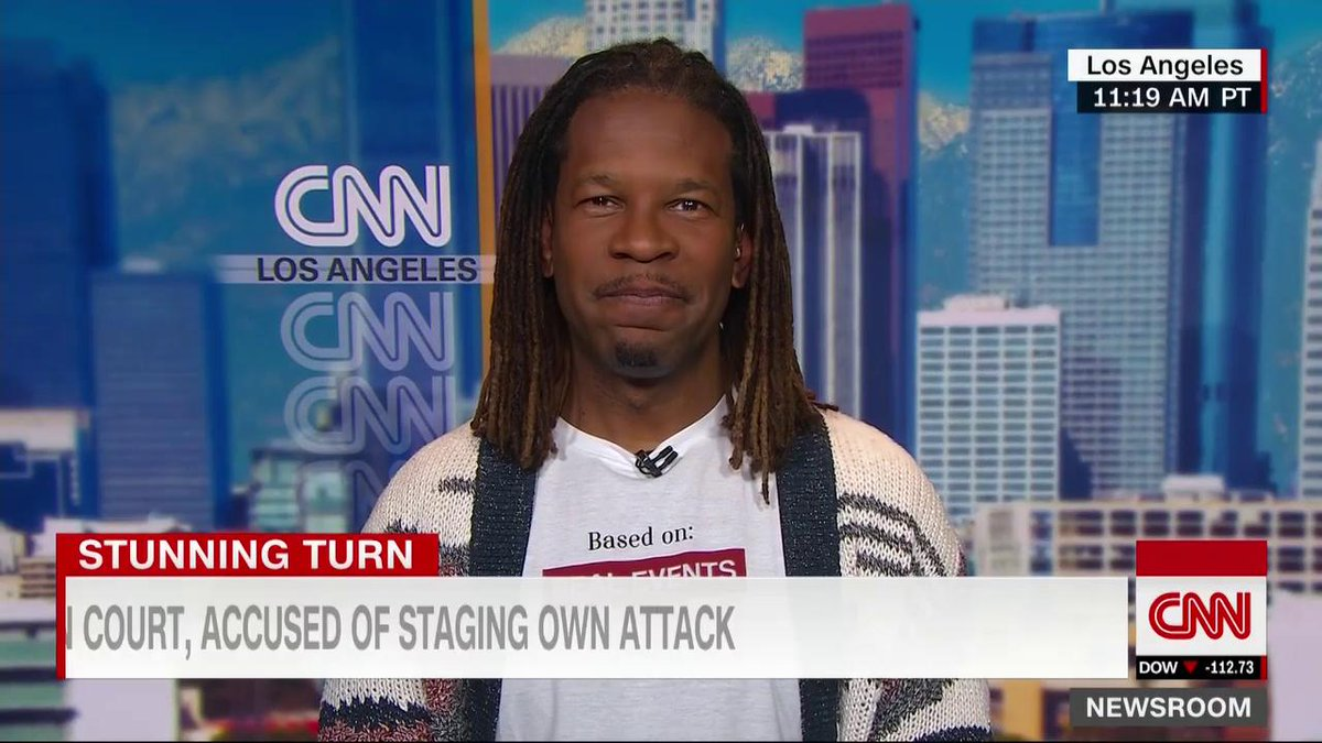 """""""As an openly gay black man in the media, I am incredibly frustrated, angry, upset that someone would use their platform in this way to promote only themselves,"""" says @LZGranderson on the Jussie Smollett case.  The actor is accused of faking his attack. http://cnn.it/2DVHXow"""