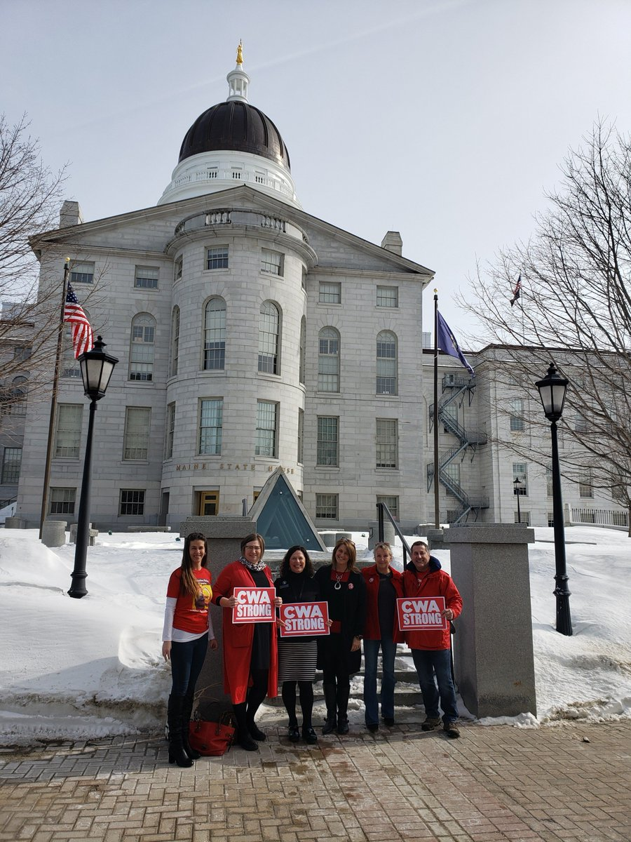 CWA Local 1400 members fighting for call center jobs in Maine! Speakers at yesterday's hearing on the Maine Call Center Bill (LD201) included the bill's sponsor, Michelle Dunphy, a Maine House Rep and CWA member who works in a call center. ✊ #SaveCallCenterJobs