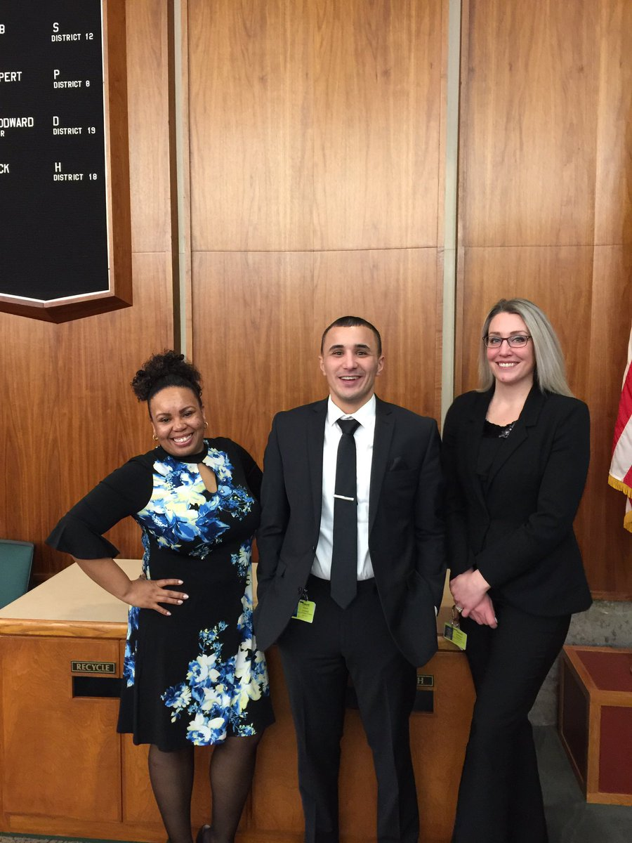 Oakland County Adult Treatment Court Agents @Ahmedbazzi_ @Moss17Callie and Rachel Jarnagin at the Adult Treatment Court graduation. Thank you for all you do! @MDOC_QPN @Dietrichb7